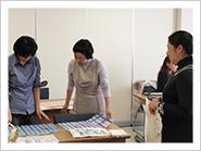 日本橋教室(小津和紙博物館内)の様子
